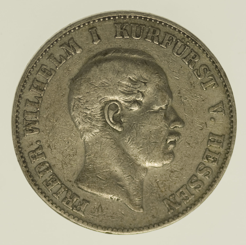 altdeutschland-deutsche-silbermuenzen - Hessen Kassel Friedrich Wilhelm I. Vereinstaler 1858