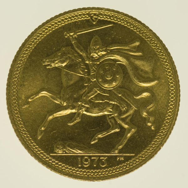isle-of-man - Isle of Man Elisabeth II. Sovereign 1973