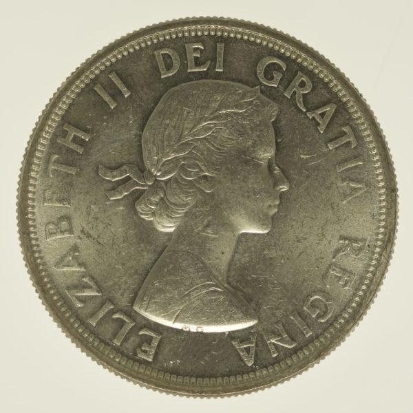 kanada-silbermuenzen-uebrige-welt - Kanada Elisabeth II. Dollar 1964 Lot