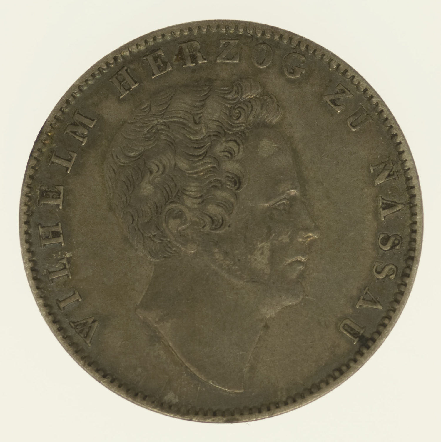 altdeutschland-deutsche-silbermuenzen - Nassau Wilhelm 1/2 Gulden 1838