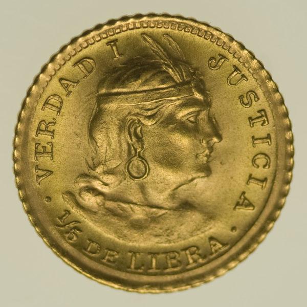 peru - Peru 1/5 Libra 1966