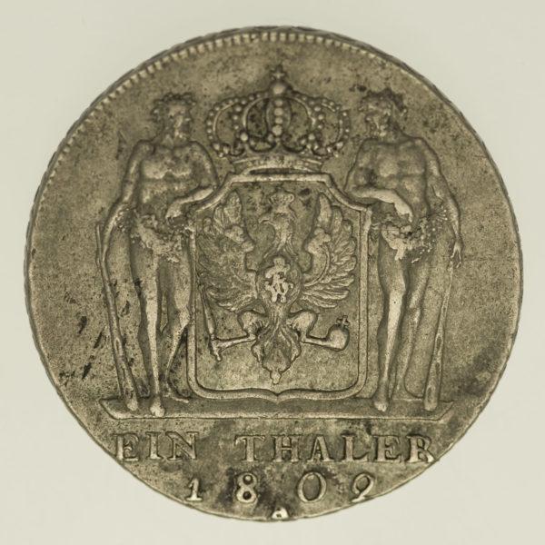 altdeutschland-deutsche-silbermuenzen - Preussen Friedrich Wilhelm III. Taler 1802 A