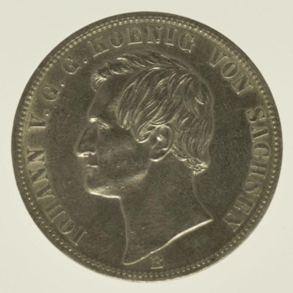 altdeutschland-deutsche-silbermuenzen - Sachsen Johann Vereinstaler 1871