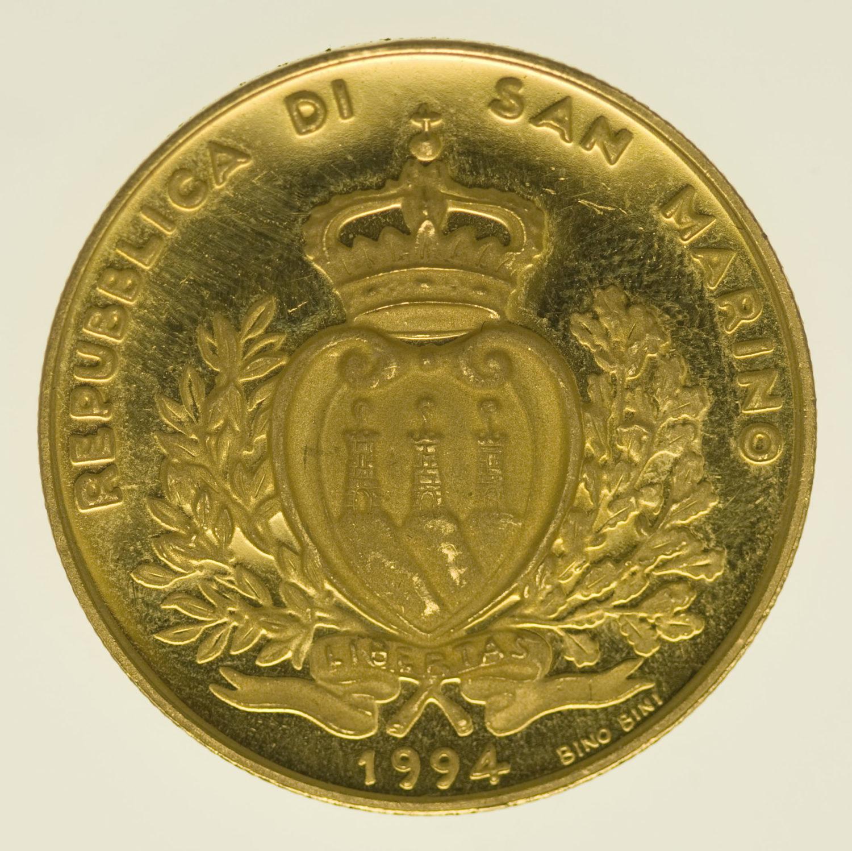 san-marino - San Marino 5 Scudi 1994