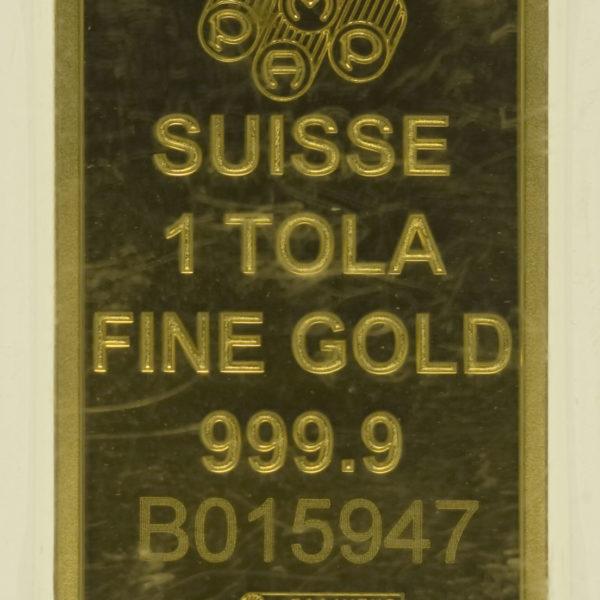 goldbarren - Goldbarren 1 Tola Schweiz PAMP