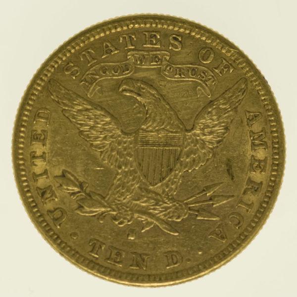 usa - USA 10 Dollars 1881 S Liberty / Kopf