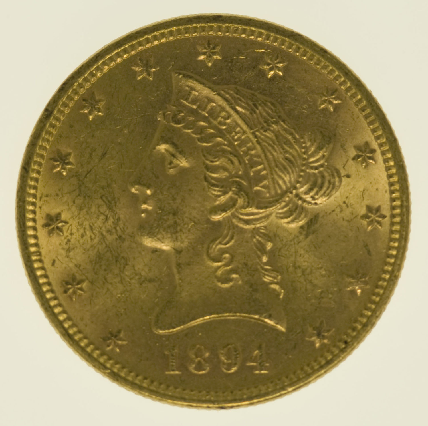 usa - USA 10 Dollars 1894 Liberty / Kopf