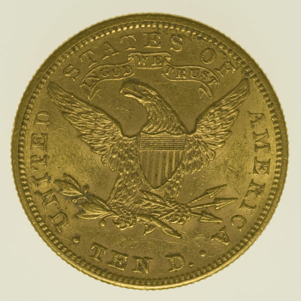 usa - USA 10 Dollars 1900 Liberty / Kopf