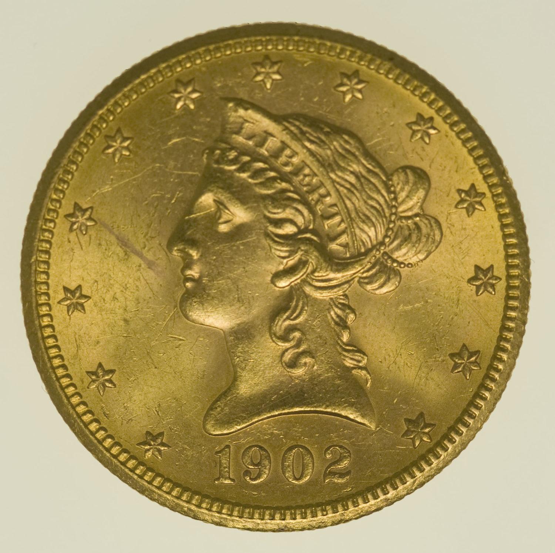 usa - USA 10 Dollars 1902 S Liberty / Kopf