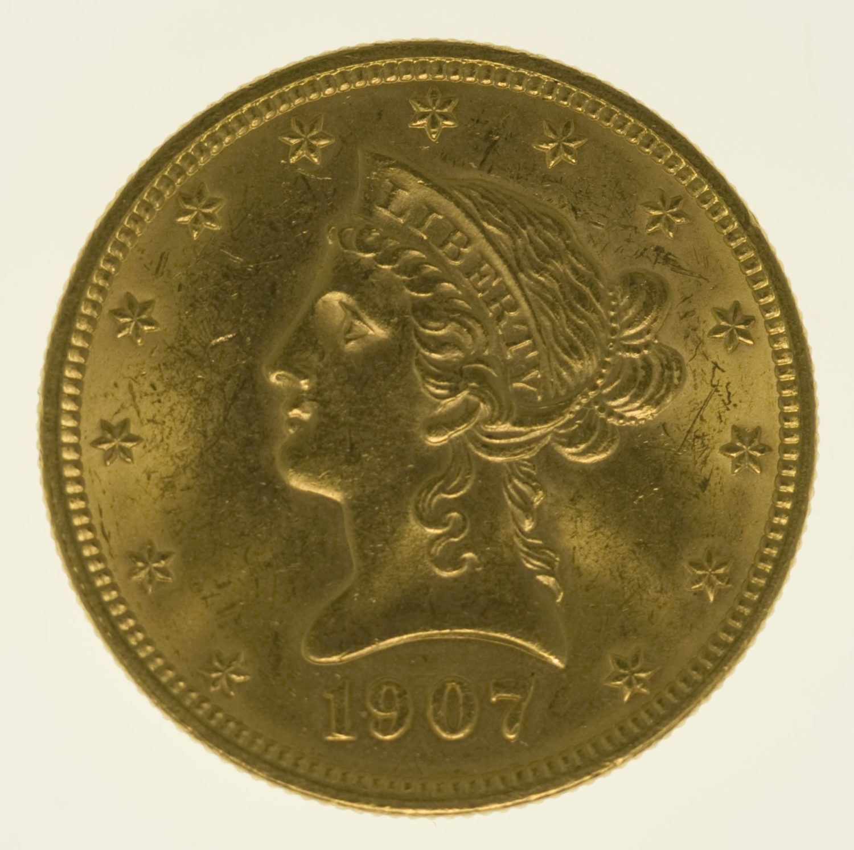usa - USA 10 Dollars 1907 Liberty / Kopf