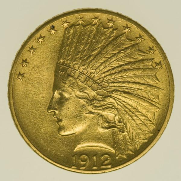 usa - USA 10 Dollars 1912 Indianer