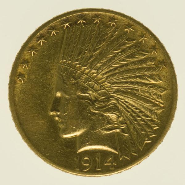 usa - USA 10 Dollars 1914 Indianer