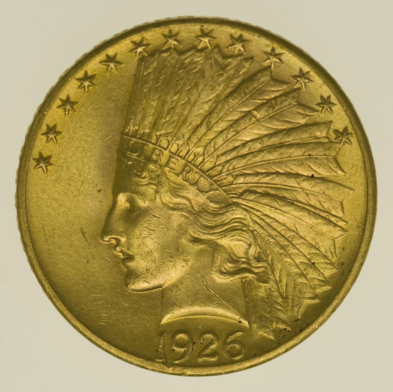 usa - USA 10 Dollars 1926 Indianer