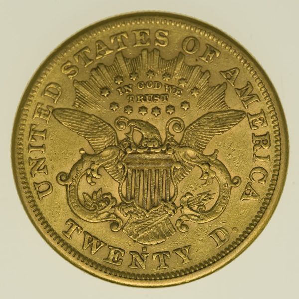 usa - USA 20 Dollars 1871 S Liberty / Kopf