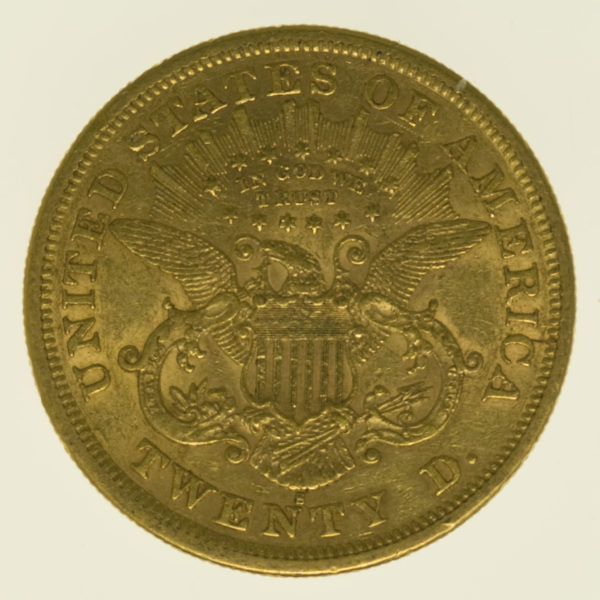 usa - USA 20 Dollars 1876 S Liberty / Kopf