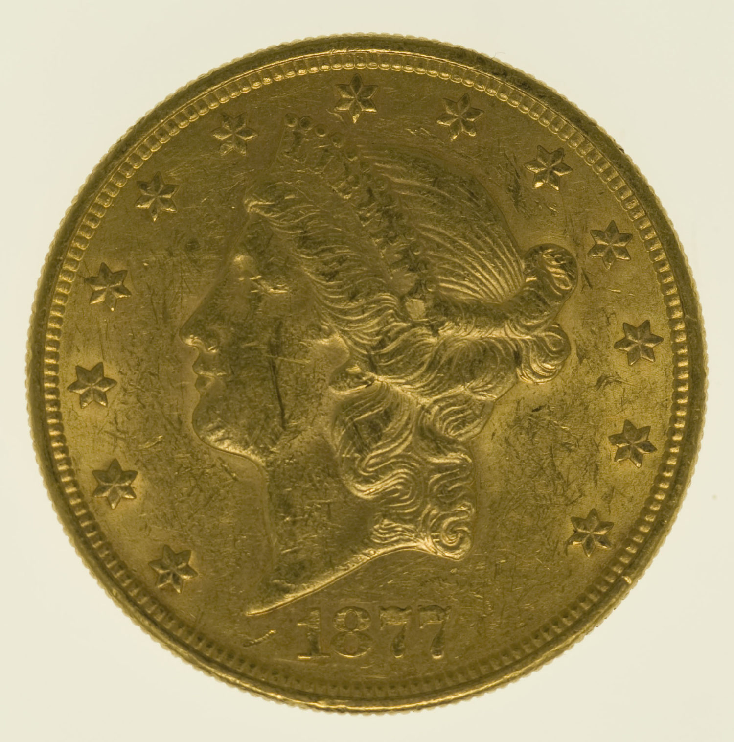 usa - USA 20 Dollars 1877 S Liberty / Kopf