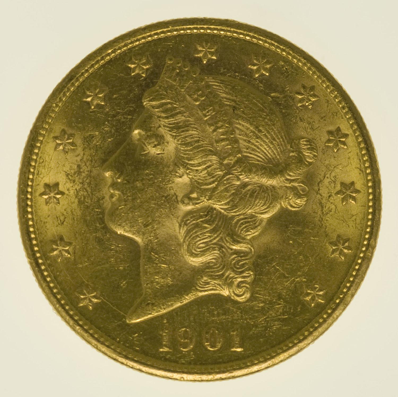 usa - USA 20 Dollars 1901 S Liberty / Kopf