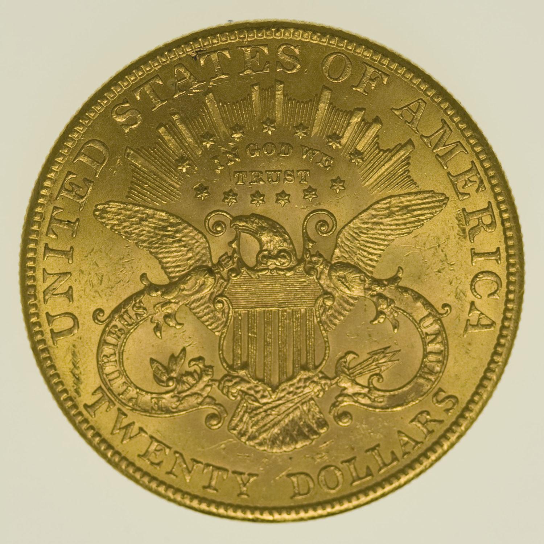 usa - USA 20 Dollars 1907 Liberty / Kopf