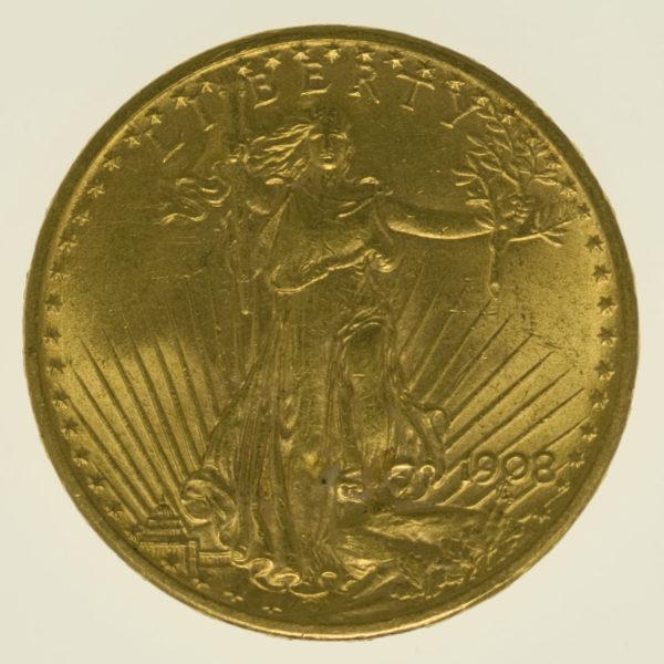 usa - USA 20 Dollars 1908 Statue