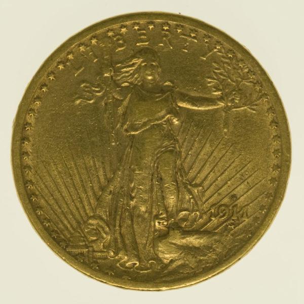usa - USA 20 Dollars 1911 S Statue