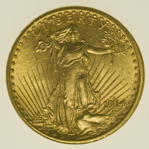 usa - USA 20 Dollars 1914 S Statue