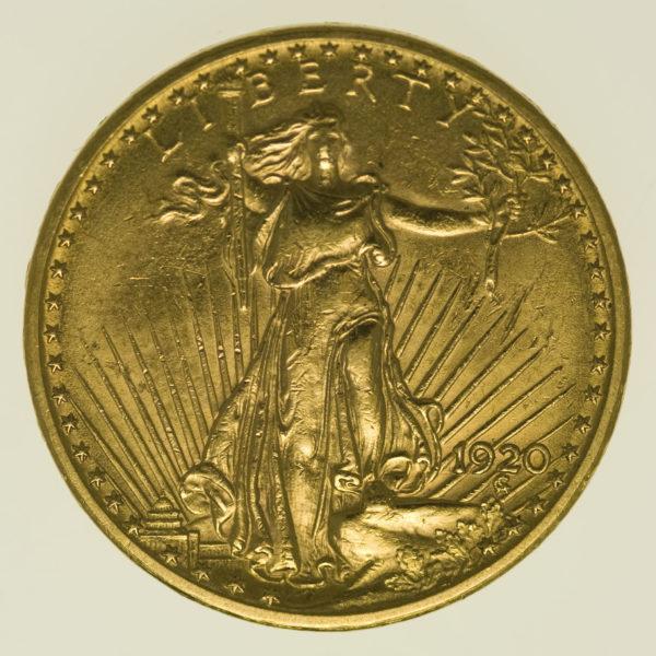 usa - USA 20 Dollars 1920 Statue