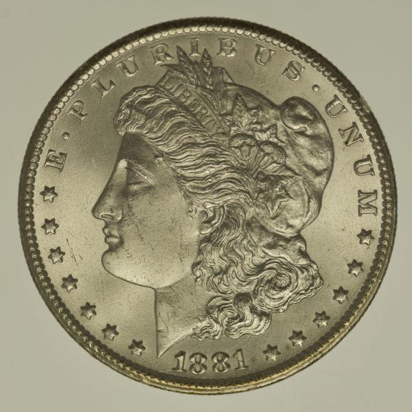 usa-silbermuenzen-uebrige-welt - USA Morgan Dollar 1881 CC