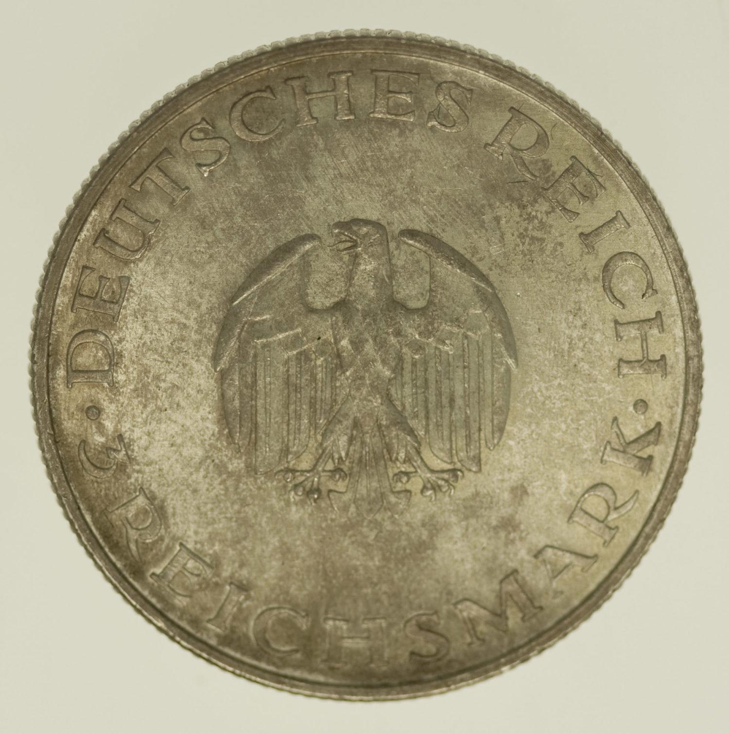 weimarer-republik-deutsche-silbermuenzen - Weimarer Republik 3 Reichsmark 1929 F Lessing