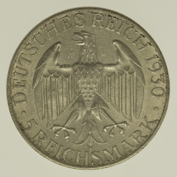 weimarer-republik-deutsche-silbermuenzen - Weimarer Republik 5 Reichsmark 1930 A Zeppelin