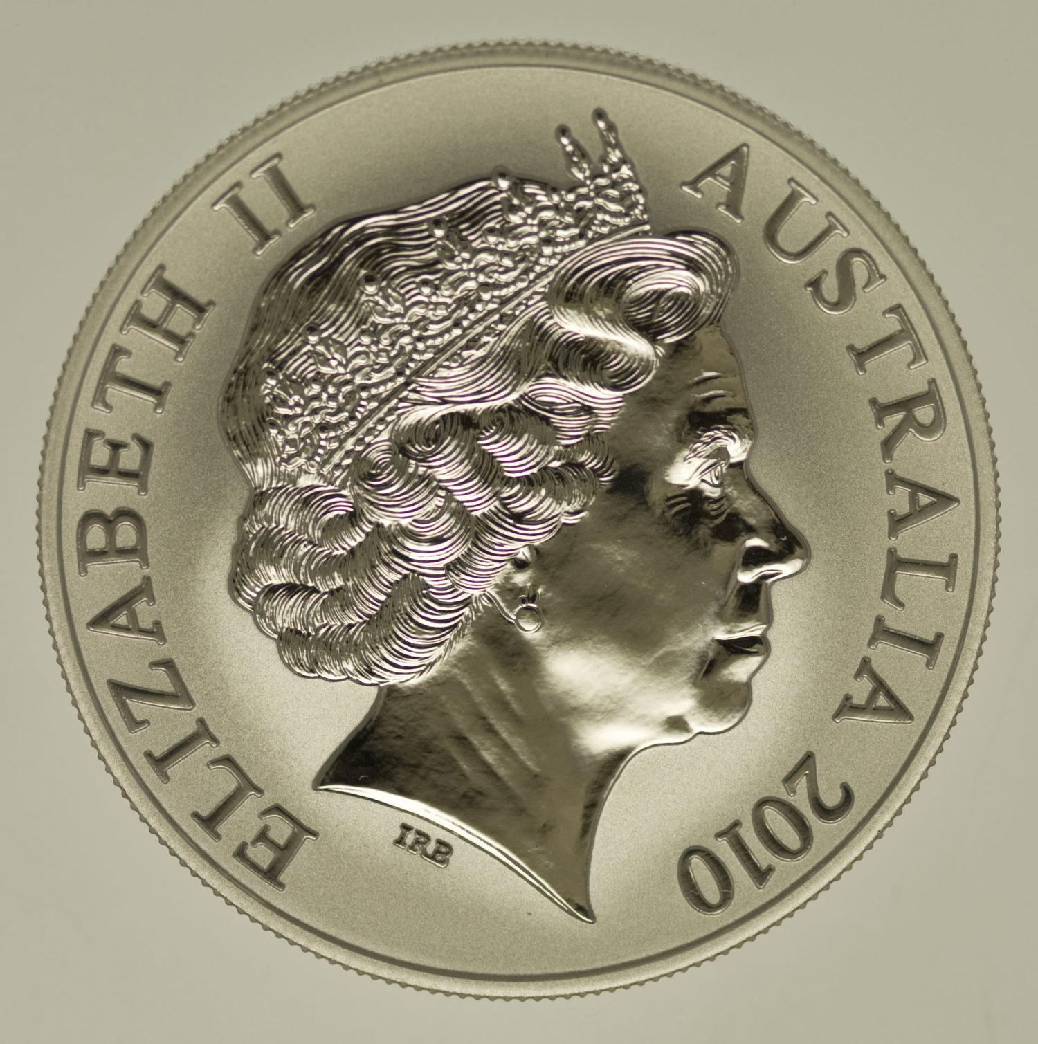 australien-silbermuenzen-uebrige-welt - Australien RAM 1 Dollar 2010 Känguru