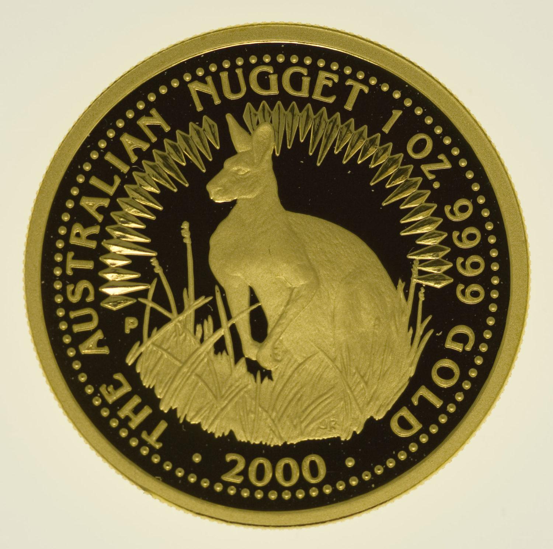 australien - Australien 100 Dollars Känguru 2000 proof