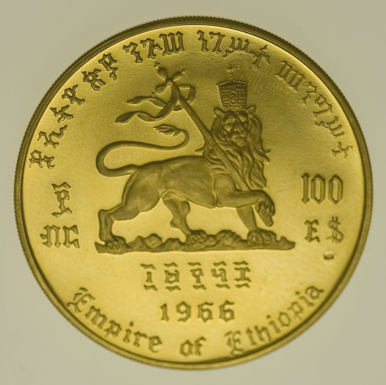 aethiopien - Äthiopien Haile Selassi 100 Dollars 1966