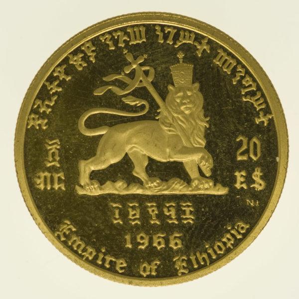 aethiopien - Äthiopien Haile Selassi 20 Dollars 1966