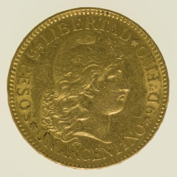 bolivien-goldmuenzen-uebrige-welt - Argentinien 5 Pesos / Argentino 1887