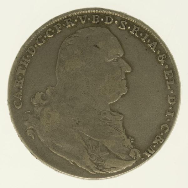 altdeutschland-deutsche-silbermuenzen - Bayern Karl Theodor Konventionstaler 1798