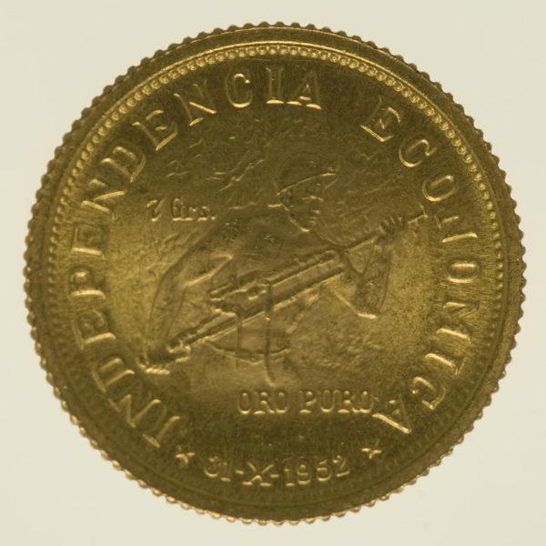 bolivien-goldmuenzen-uebrige-welt - Kolumbien 7 Gramm 1952 (10 Bolivianos)