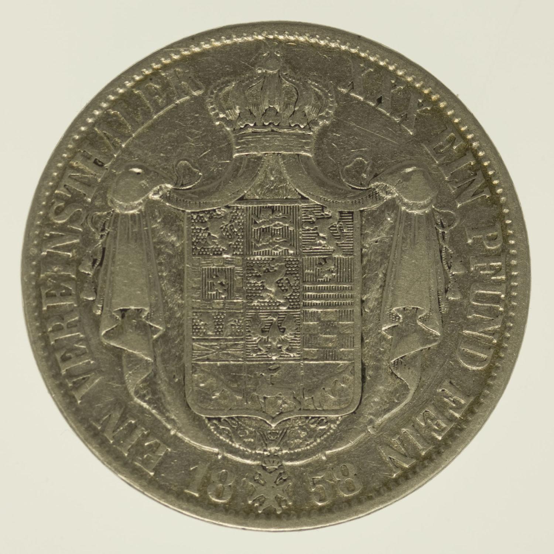 altdeutschland-deutsche-silbermuenzen - Braunschweig Lüneburg Wilhelm Vereinstaler 1858