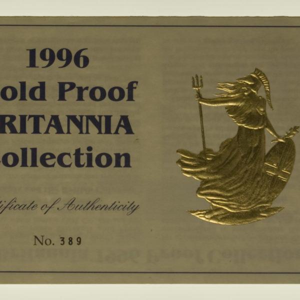 grossbritannien - Großbritannien Elisabeth II. Britannia proof Set 1996