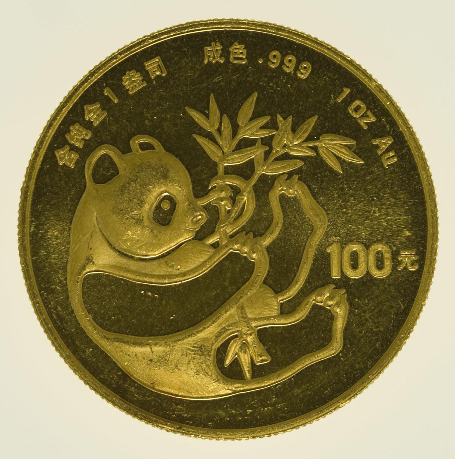 china - China Panda 1 Unze 1984
