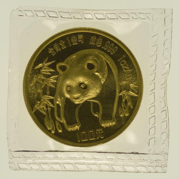 china - China Panda 1 Unze 1986