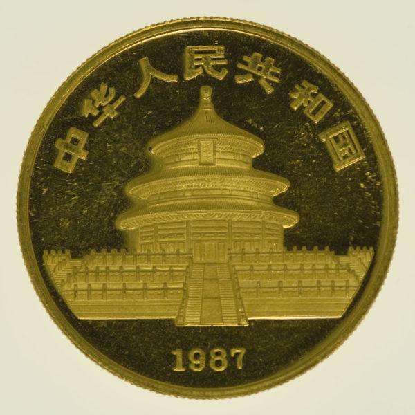 china - China Panda 1 Unze 1987