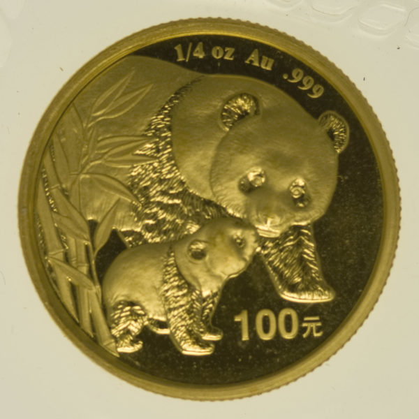china - China Panda 1/4 Unze 2004