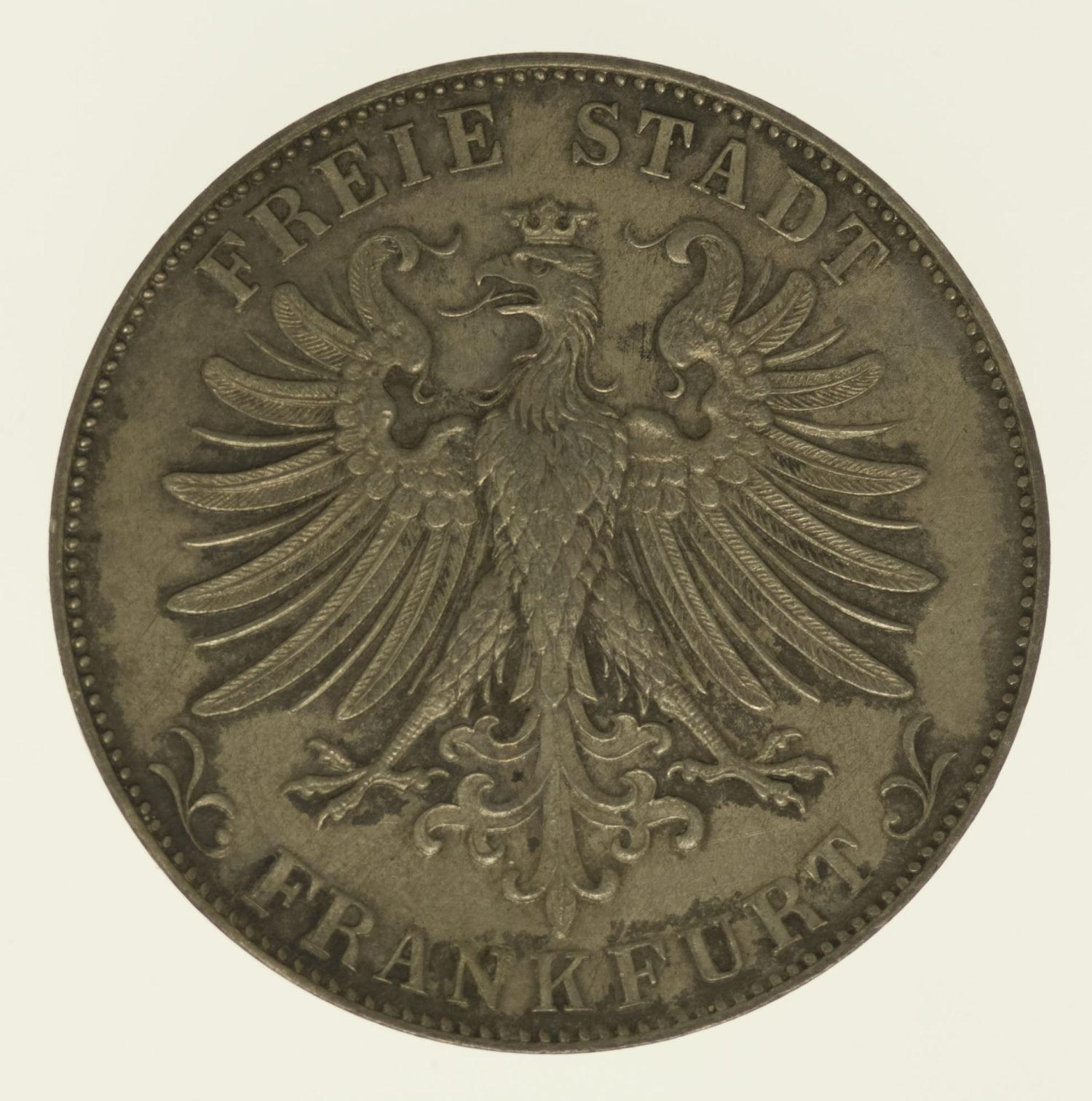 altdeutschland-deutsche-silbermuenzen - Frankfurt Stadt Gulden 1861