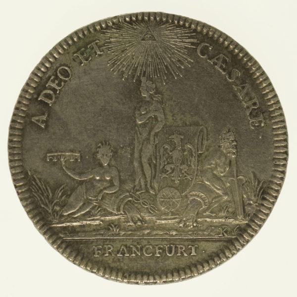 altdeutschland-deutsche-silbermuenzen - Frankfurt Stadt Konventionstaler 1776