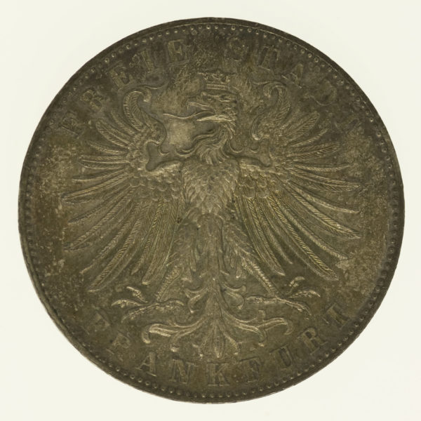 altdeutschland-deutsche-silbermuenzen - Frankfurt Stadt Vereinstaler 1862