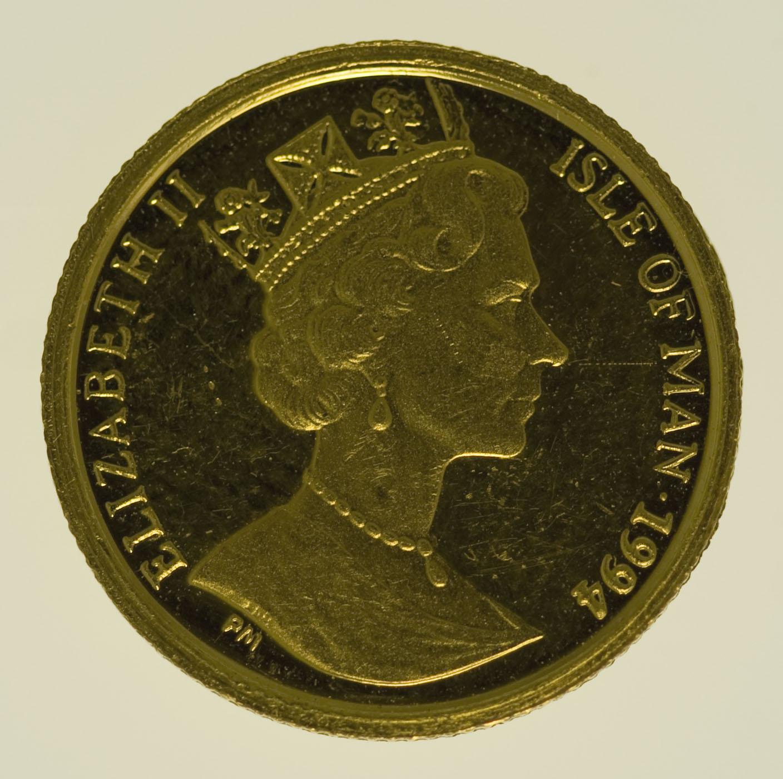 isle-of-man - Isle of Man Elisabeth II. 1/20 OZ 1994 Angel