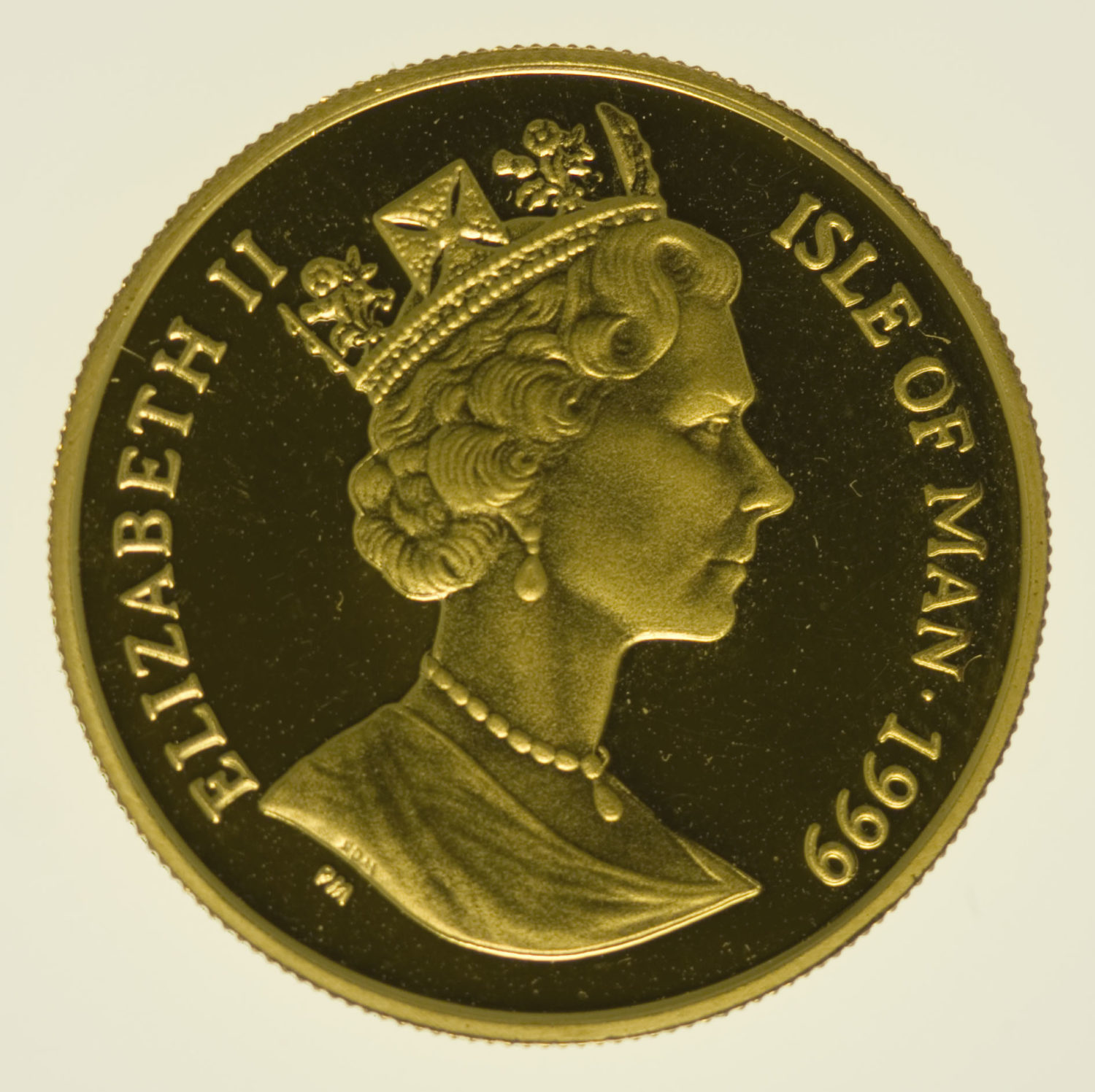 isle-of-man - Isle of Man Elisabeth II. 1/4 OZ 1999 Angel