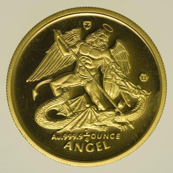 isle-of-man - Isle of Man Elisabeth II. 1/4 OZ 1999 Angel