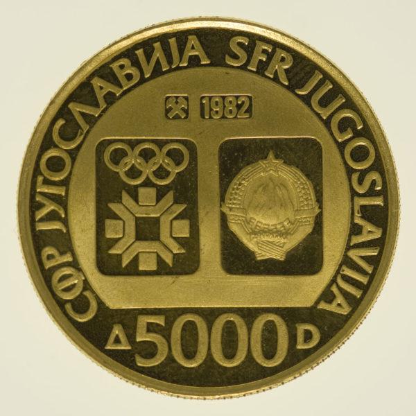 jugoslawien - Jugoslawien 5000 Dinar 1982