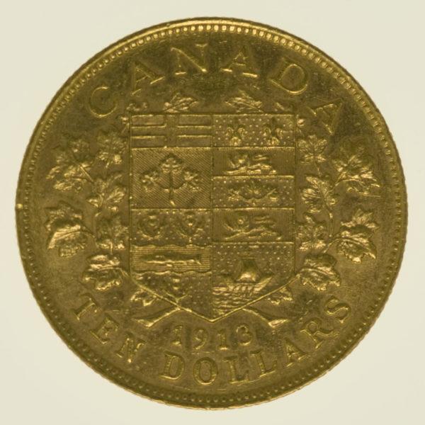 kanada - Kanada Georg V. 10 Dollars 1913